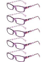 5 Pairs Fashion Ladies Reading Glasses Spring Hinge...