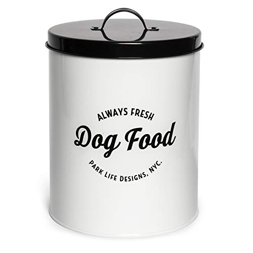 - Park Life Designs Wallace Large Treat Tin, Stylish Enamel-Coated Carbon Steel Canister for Treats and More, Airtight Silicone Seal, 9