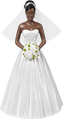 Cake Topper 5.25-Bride - African American -