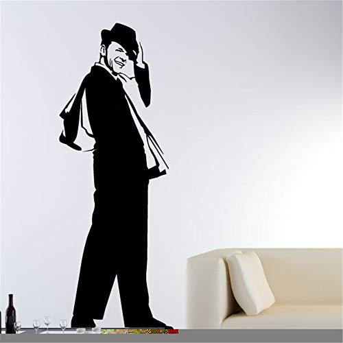 Wall Decal Sticker Art Mural Home Decor Quote Portrait of Frank Sinatra for Living Room Bedroom Wall Sticker -