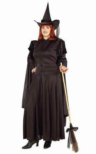 Forum Novelties Women's Wild N' Witchy Classic Witch Costume, Black, (Plus Size Witches Costume)