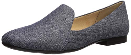 Naturalizer Women's Emiline Driving Style Loafer, Blue Denim, 7 W US ()