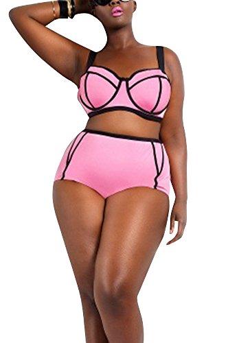 Creabygirls-Womens-Sexy-Plus-Size-Two-Piece-Swimsuits-Bikini-Set