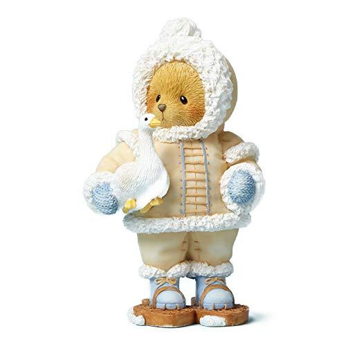 Enesco Cherished Teddies Collection Bear Eskimo With Snow Goose