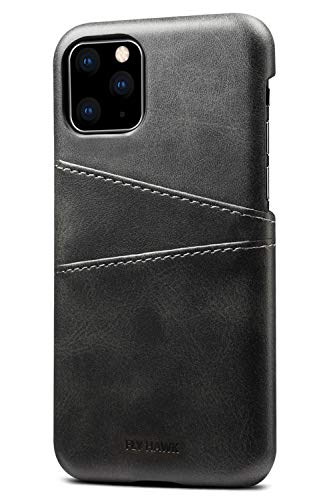 Wallet Case for 2019 iPhone 11 Pro Max, Slim PU Leather Back Case Cover Credit Card Holder, 6.5 inches, Black (Best Leather Iphone Wallet)