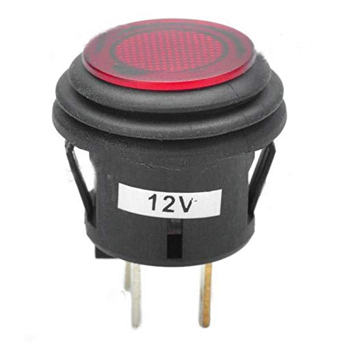 IP67 Wasserdichter mit rotem LED-Licht Jtron 22mm knopfschalter 12v wasserdicht Selbsthaltender 3 Pin Auto RV LKW Boot EIN-AUS-Schalter