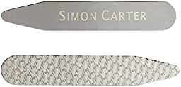 Silver Etched Collar Stiffeners by Simon Carter