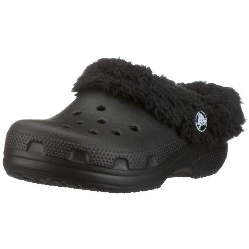 Crocs Mammoth Shearling Clog (Toddler/Little Kid),Black/Black,6-7 M US Toddler