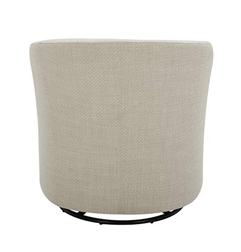 Living Room Amazon Brand – Rivet Rione Modern Upholstered Swivel Chair with Rounded Back, 30.3″W, Stucco modern accent chairs