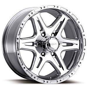 Ultra Wheel 208P Badlands Silver Wheel with Polished Finish  (17x9