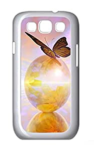 Monarch Butterfly Polycarbonate Hard Case Cover for Samsung Galaxy S3 I9300¨C White