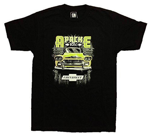 Chevy Apache SS 1958 Men's T-Shirt by JH Design, Large, Black