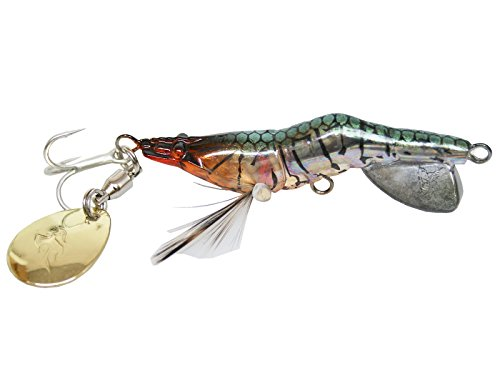 リアルエビ型プラグ ハネビックス メタルブレードカスタム50 50mm/12.5g LITTLE JACK ルアー 釣り具 (#09リアルステルスシュリンプ)の商品画像