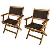 Phat Tommy Outdoor Patio & Garden Sea Breeze Folding Armchair (set of 2) - For your Backyard Furniture needs