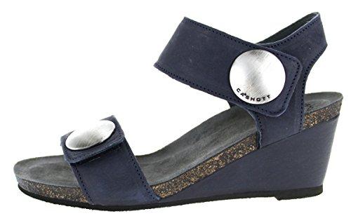 Bleu À Compensée Sandales Marine Ca'shott Semelle Femme HFwfnTq