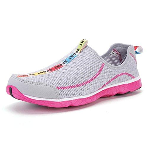 s Barefoot Quick Dry Aqua Shoes for Beach Garden Park(Grey,35/4 B(M) US Women/3 D(M) US Men) ()