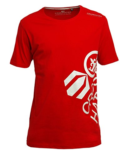 CROSSHATCH Herren T-Shirt, rot