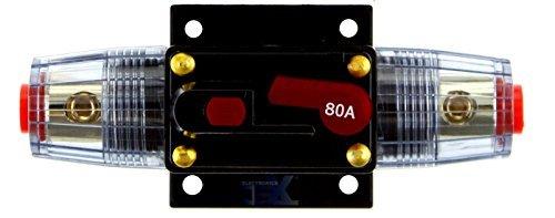 - Jex Electronics 80 Amp In-Line Circuit Breaker Stereo/Audio/Car/RV 80A/80AMP Fuse 12V/24V/32V