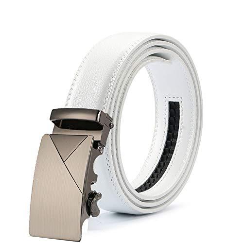 Vintage Cuero Lllm Hombre Blanco Clásico De Moda 130cm 120cm Masculino Cinturón Cinturones Los Vaqueros Del qqI7Z