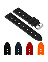 StrapsCo Silicone Rubber Rally Watch Band Strap for Breitling Superocean