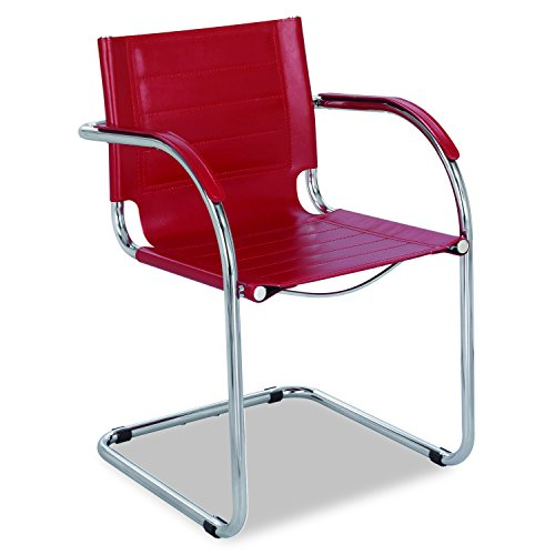 UPC 073555345711, Safco Products 3457RD Flaunt Guest Leather Chair, Red