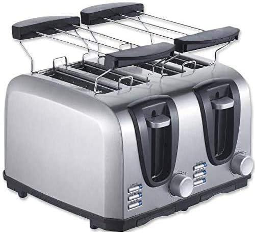 CattleBie パン製造機、ホーム朝食パン機全自動トースタートースト両面焼きサンドイッチ機、6速ベーキングモード、両側にでもと高速暖房