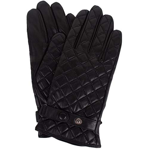 Snugrugs Women's Butter Soft Premium Quilted Leather Glove - Black - Small (6.5