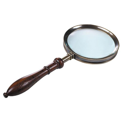 Authentic Models Regency Handheld Magnifying Glass in Brass and Rosewood (Regency Model)