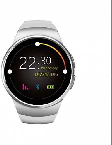 GPS deportivo reloj inteligente, oled pantalla táctil Excerise Tracker, alarma con vibración, reloj deportivo, USB Batería resistente al agua LED linterna compatible con iPhone, Android Smartphone, 0.48 pounds, color blanco: Amazon.es: Deportes
