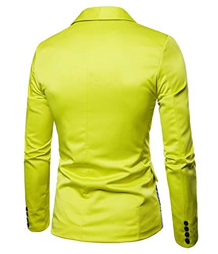 De Fit Ethnique Pour Business Dashiki Veste Homme Jaune Style Blazer Costume Manteau Slim UCa4wq6