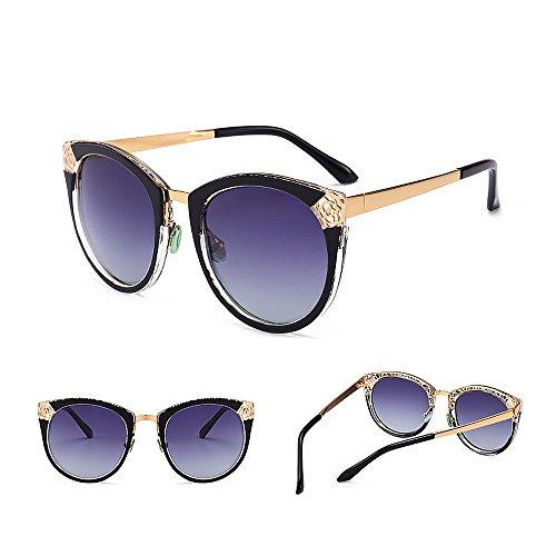 de Gafas la Gu Ultravioleta Sol Retro Diseño Hueco Protección Peggy Elegante de para Color C1 del Las Mujeres C2 5XwEqndd