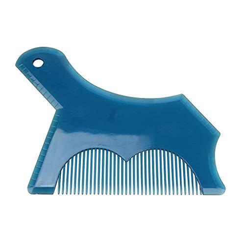 Beard Shaping Tool - Men's Beard Shaper Tool Premium Template Styling Comb Templates Beard Shaper Kit - Beard Stencil Guide Template Outliner - New Innovative Design for 2019 (Blue)