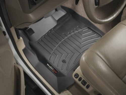 WeatherTech Custom Fit Front FloorLiner for Honda Pilot (Black) - Front Floor Liner Mats