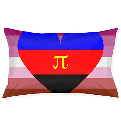 Lesbian Polyamory Pride Flag Pi Bedroom Apartment House Rustic Farmhouse Dorm Couch Lumbar Party Set Accent Bed Sleeping Theme Home Decorations Ornament Throw Pillow Bedroom Indoor ()