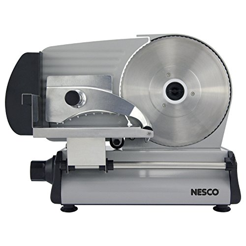 "NESCO FS-250, Stainless Steel Food Slicer, Adjustable Thickness, 8.7"", Silver"