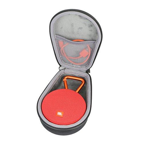 co2crea Hard Travel Case for JBL Clip 2/3 Waterproof Portable Wireless Bluetooth Speaker (Black)