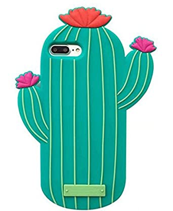 "I Phone 8 Plus Case, I Phone 7 Plus Case, Top Funny I Phone 8 Plus 3 D Cute Cartoon Cactus Soft Silicone Rubber Protective Cover Shockproof Case For I Phone 7 Plus/I Phone 8 Plus 5.5"" Cactus Flower by Top Funny"