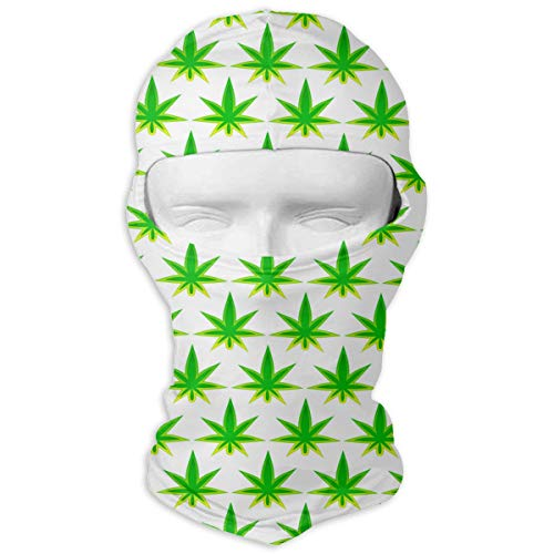 UV Protection Face Mask for Cycling Outdoor Sports Full Face Masks Leaf of Cannabis Green Balaclava Hood Skullies -