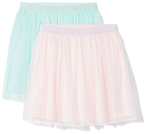 Amazon Brand - Spotted Zebra Girls' Little Kid 2-Pack Tutu Skirts, Pink/Mint Green, Small -