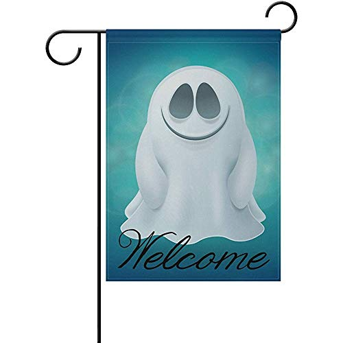 - Ghost Polyester Valentine's Day Garden Flag 12 x 18 Inch Banner Double Sided Printing for Yard Decor