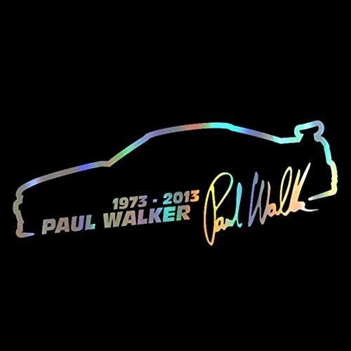 Auto Aufkleber Vinyl 13 5cm Paul Walker Schnelle Und Wütende Mode Reflektierende Aufkleber Auf Auto Lustige 3d Aufkleber Abziehbilder Auto Styling 1 Stück Laser Auto