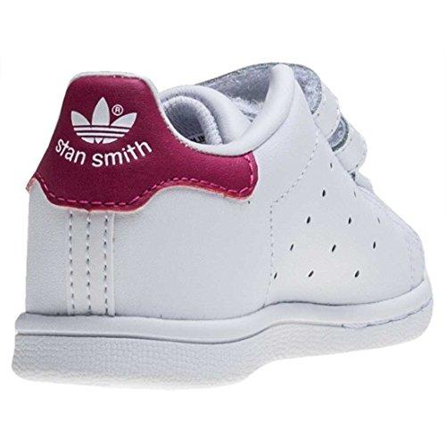 adidas Stan Smith CF I - Zapatillas para niños blanco, rosa