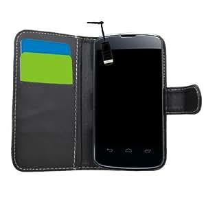 Samrick - Funda de piel tipo libro para LG Nexus 4 E960 (incluye tarjetero, protector de pantalla, gamuza de microfibra y mini lápiz capacitivo), color negro