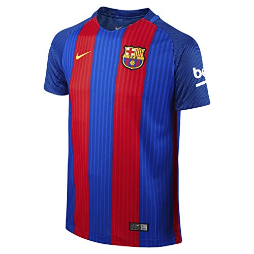 Nike Kids Barcelona 2016/2017 Home Soccer Jersey (Blue, Red) Youth Medium