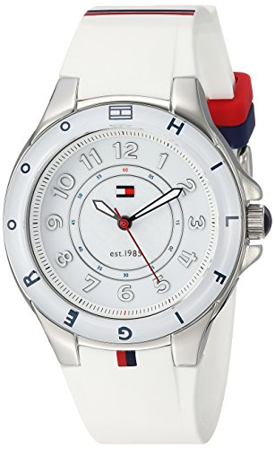 Tommy Hilfiger Women s 1781271 Stainless Steel Watch with White Silicone Band