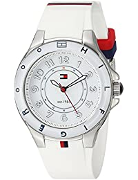 Womens 1781271 Stainless Steel Watch with White Silicone Band