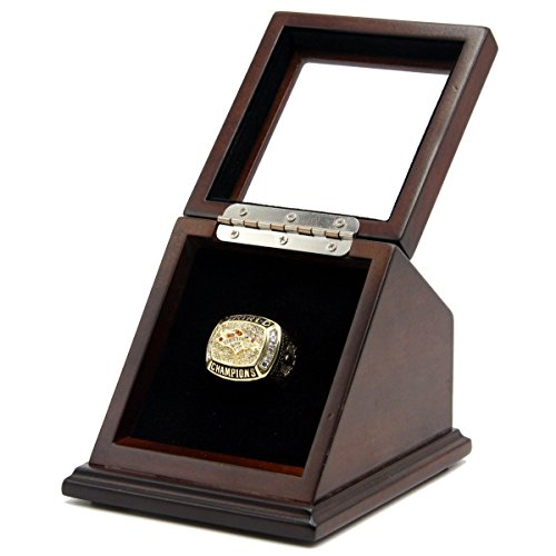 TF SPORT FAN'S COLLECTION RING IN DISPLAY BOX - SIZE 11 (DEN 1997 BRONCOS WITH DISPLAY CASE)