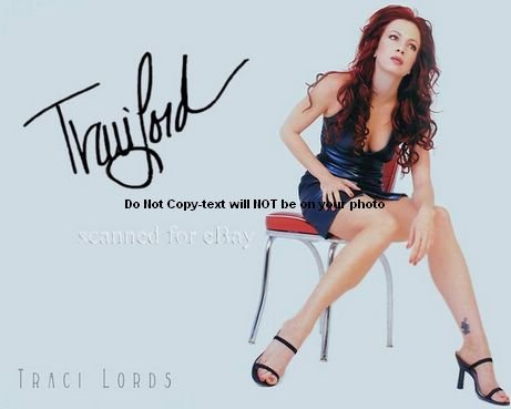 Traci Lords Upskirt Autographed Preprint Signed 11x14 Poster Photo (Best Celebrity Upskirt Photos)