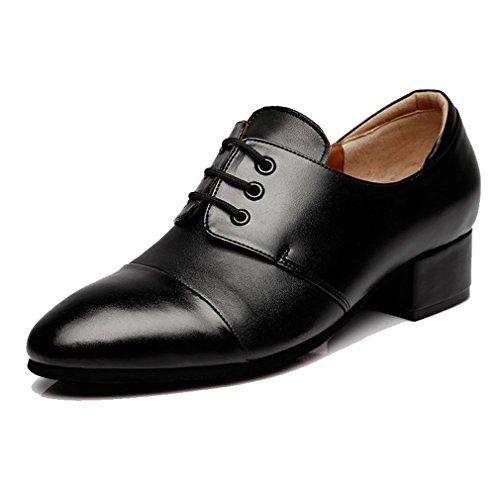 ダンスシューズ メンズ 踊りシューズ 紳士靴 モダンシューズ レースアップ 身長アップ 社交ダンス サルサ タンゴ ジャズ 通気性 滑り止め 黒