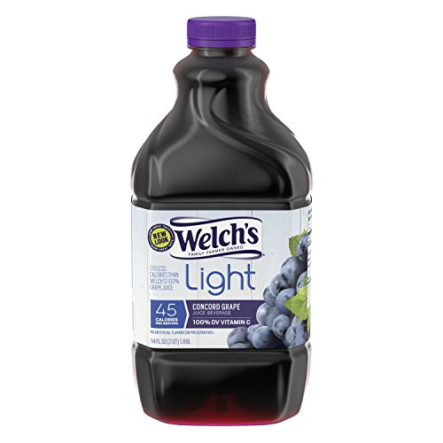 Welch's Light Juice, Concord Grape, No Sugar Added, 64 Ounce Bottles (Pack of (Grape Juice Cocktail)